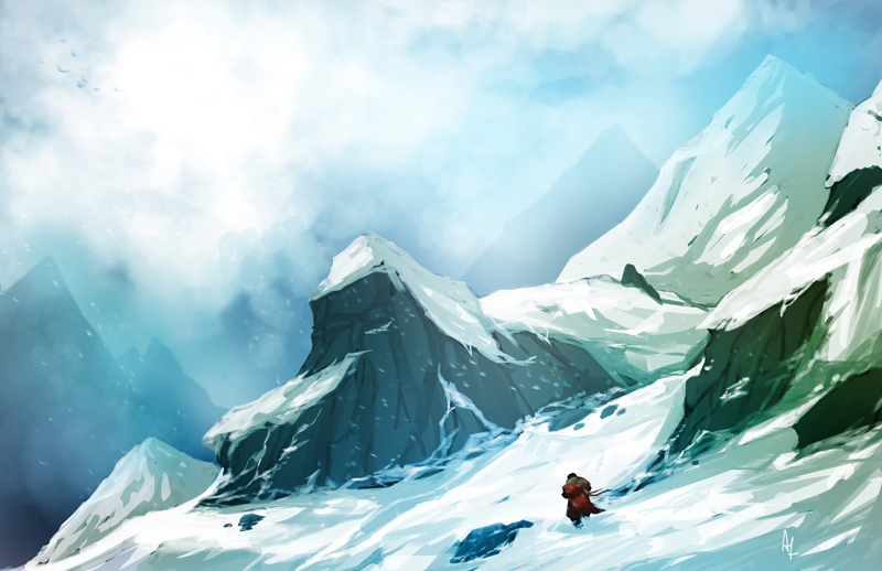 Cold Journey Environment Background visual design